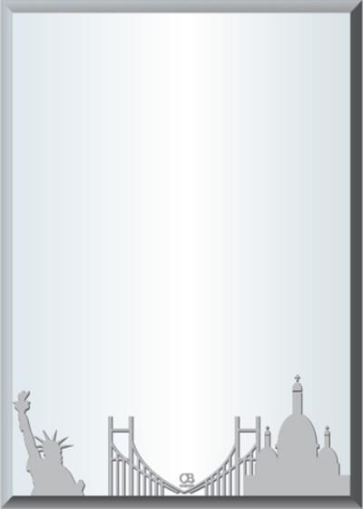 Gương soi phòng tắm Q505 do Hòa Bình Glass sản xuất và phân phối