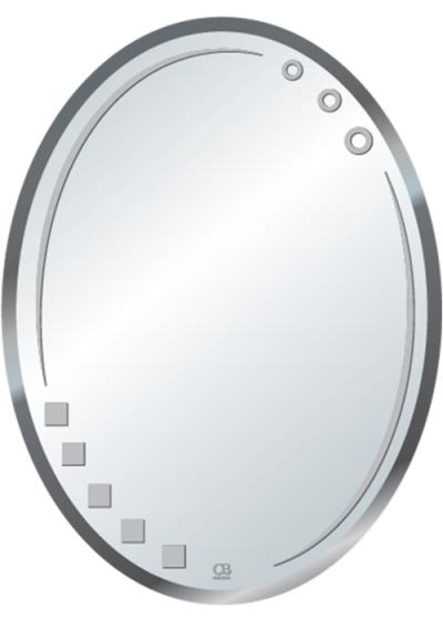 Gương soi phòng tắm Q510 do Hòa Bình Glass sản xuất và phân phối