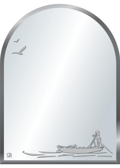 Gương soi phòng tắm Q516 do Hòa Bình Glass sản xuất và phân phối