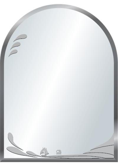 Gương soi phòng tắm Q519 do Hòa Bình Glass sản xuất và phân phối
