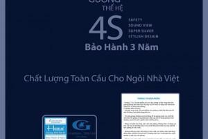 Mặt sau của gương Hobig 4S thể hiện rõ ràng thông điệp về chất lượng sản phẩm.