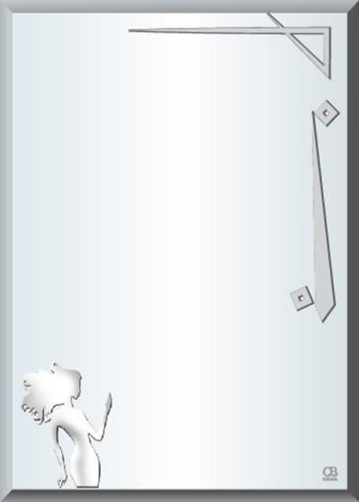 Gương soi phòng tắm Q502 do Hòa Bình Glass sản xuất và phân phối