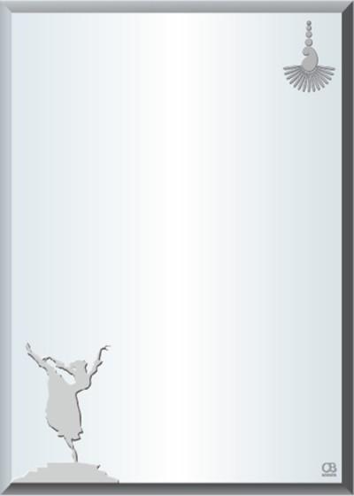 Gương soi phòng tắm Q503 do Hòa Bình Glass sản xuất và phân phối
