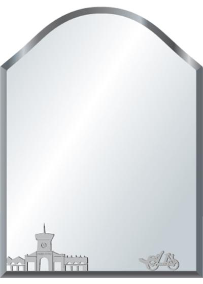 Gương soi phòng tắm Q514 do Hòa Bình Glass sản xuất và phân phối