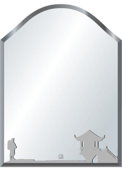 Gương soi phòng tắm Q515 do Hòa Bình Glass sản xuất và phân phối