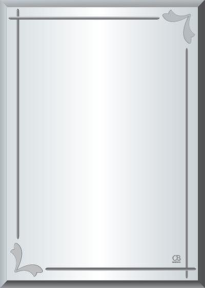 Gương soi phòng tắm Q609 do Hòa Bình Glass sản xuất và phân phối